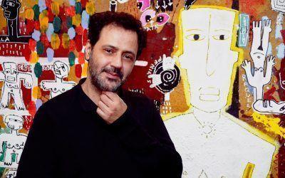 """Joaquín Barón: """"Al pintar pienso en sensaciones, en fotos de la sociedad que cada uno representa""""."""