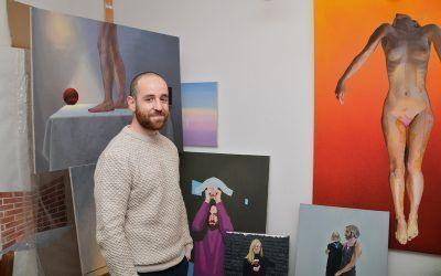 "NACHO VERGARA: ""Mi pintura nace de que yo estoy vivo, de que yo soy""."