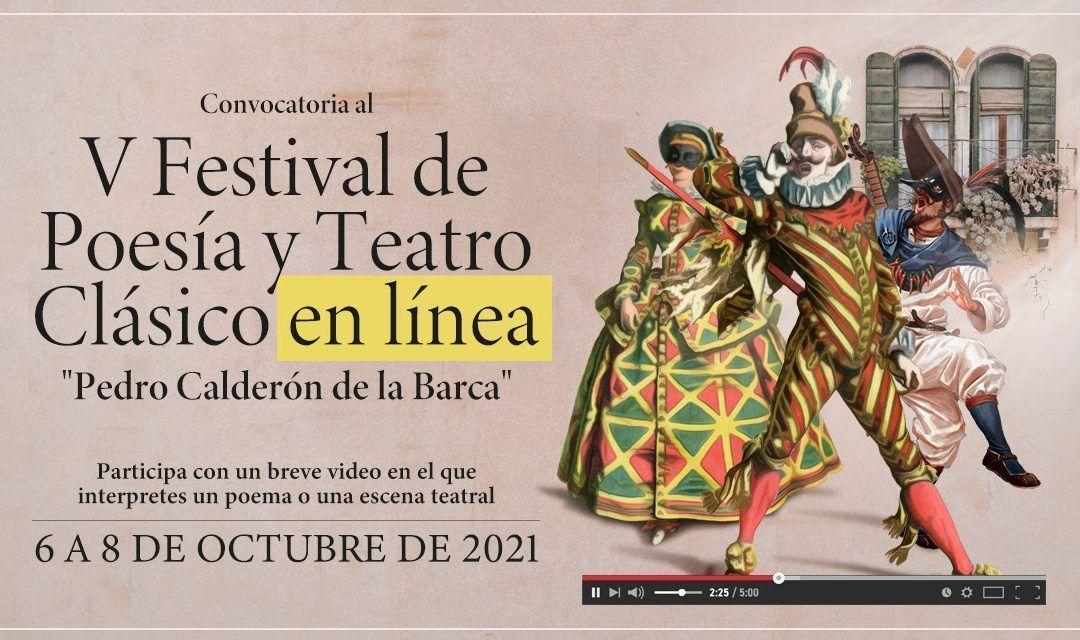 V Festival de Poesía y Teatro Clásico en línea «Pedro Calderón de la Barca»